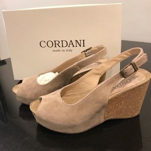 Cordani Peep Toe wedge